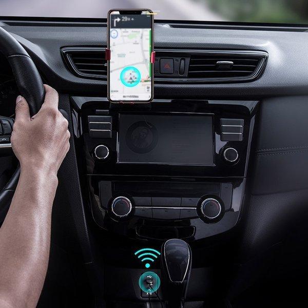 Baseus BA01 Adapter Audio AUX odbiornik dźwięku Bluetooth 5.0 do samochodu czarny