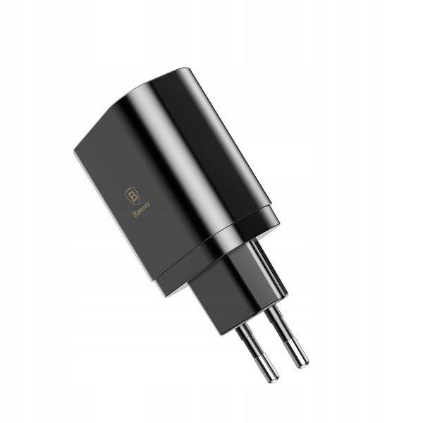 Baseus Mirror Lake   Szybka ładowarka sieciowa 3x USB 3.4A z wyświetlaczem LCD